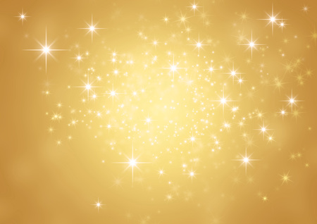 Shiny gold background in starlight