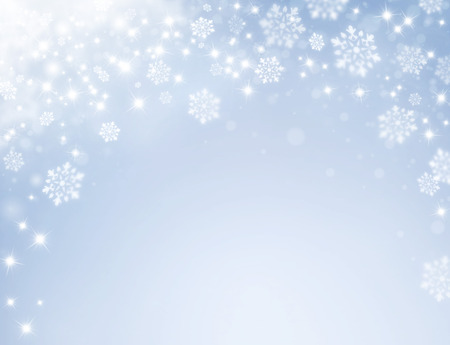 starlight: Shiny silver background with starlight and snowflakes raining down