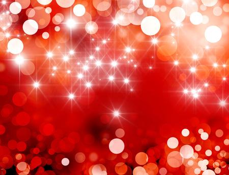 semaforo en rojo: Fondo rojo brillante con luz de las estrellas llueven Foto de archivo