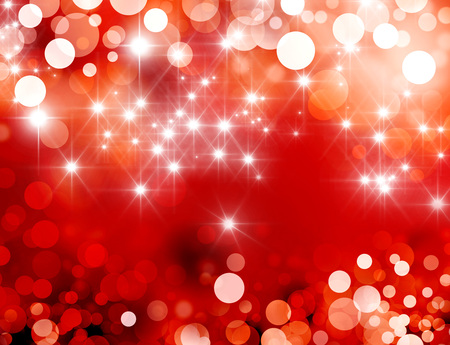 ornamental background: Shiny red background with starlight raining down