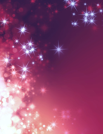 Shiny purple background with starlight raining down Standard-Bild