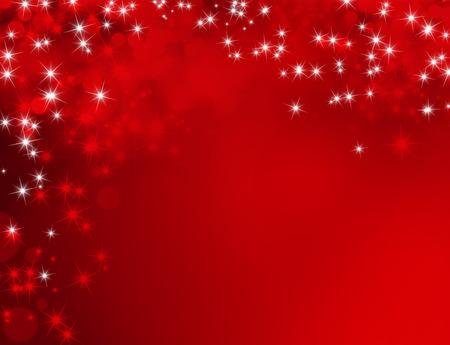 fondo rojo: Fondo rojo brillante con luz de las estrellas llueven Foto de archivo