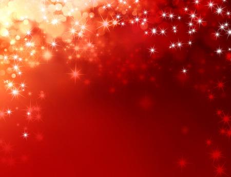 background: Glänzender roter Hintergrund mit Sternenlicht nach unten zu regnen