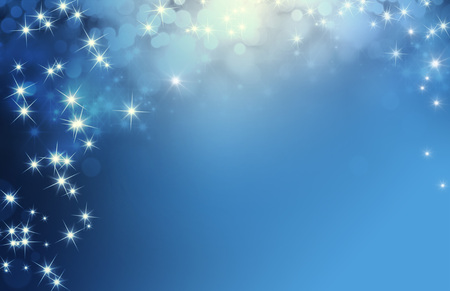 Shiny blue background with starlight raining down