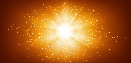 star light: Shiny gold background with star light explosion