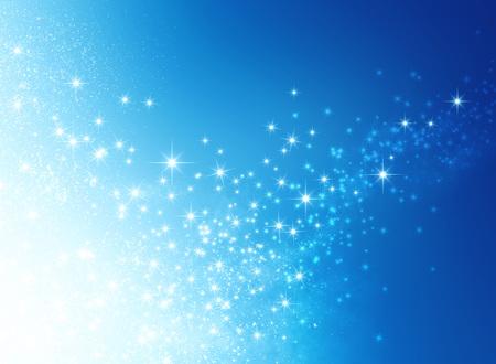 Światła: Błyszczące niebieskie tło z starlight wybuchu