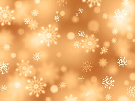 shiny gold: Shiny gold background with snowflakes raining down