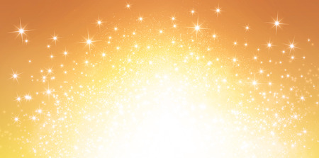 Shiny gold background in explosive star lights