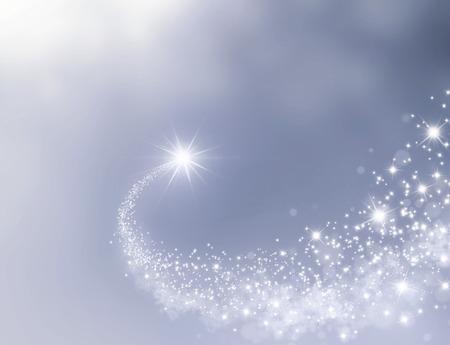 Estrella fugaz haciendo su camino a través de un fondo de plata Foto de archivo - 46092800