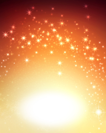shiny gold: Shiny sparkling gold background with star lights Stock Photo