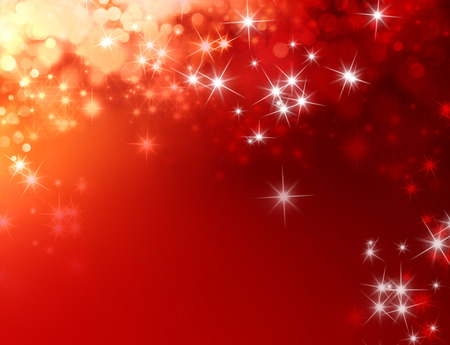 Shiny red background with star lights raining down