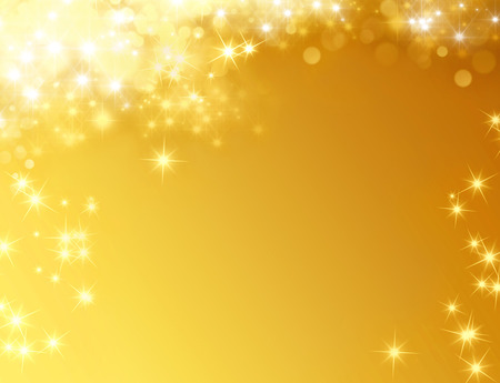 Shiny gold background with star lights raining down Stock Photo - 46142887