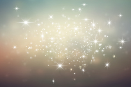 winter celebration: Shiny brownish grey background with star lights explosion