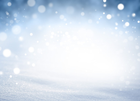 christmas backdrop: Bright snow background in blurred lights explosion Stock Photo