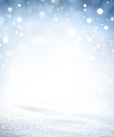abstract  white: Bright snow background in blurred lights explosion Stock Photo