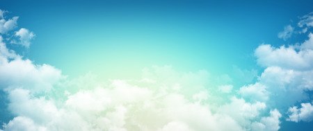 early summer: High resolution morning sky background, sunlight through white clouds Stock Photo