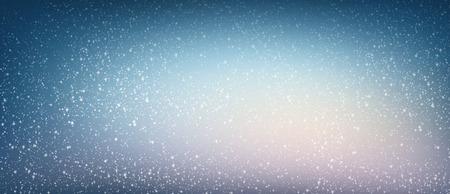 shiny: White snow falling on a shiny blue night background Stock Photo