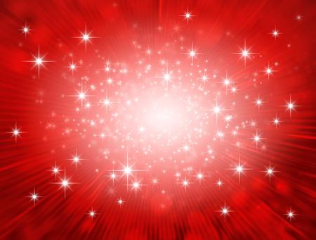 Festive bright light exploding inside a glittering red background Stock Photo - 65262158