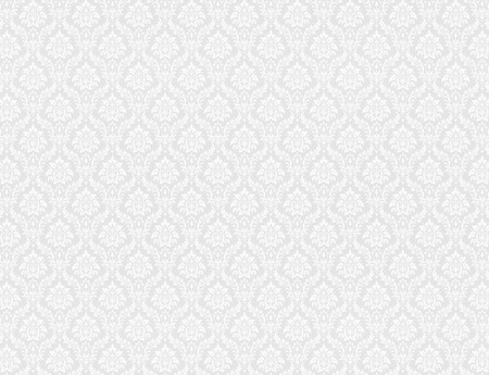 ロイヤル花柄ホワイト ダマスク織壁紙