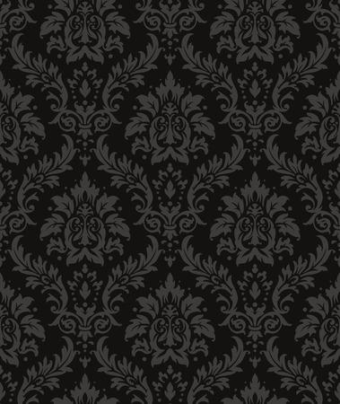 Old style damask wallpaper. Seamless vector floral patterns. Illustration