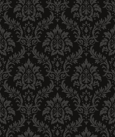 Old style damask wallpaper. Seamless vector floral patterns. Ilustração