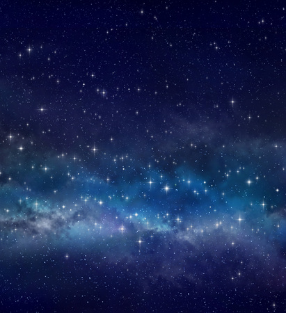 High definition galaxy background, bright stars shining in a milky way