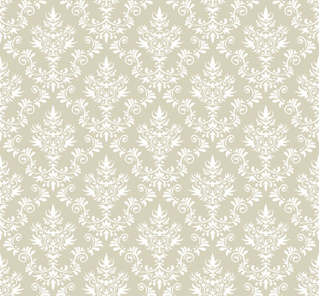 Old style damask wallpaper. Seamless vector floral patterns. 向量圖像
