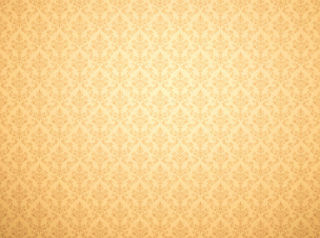 Gold damask wallpaper with floral patterns 写真素材