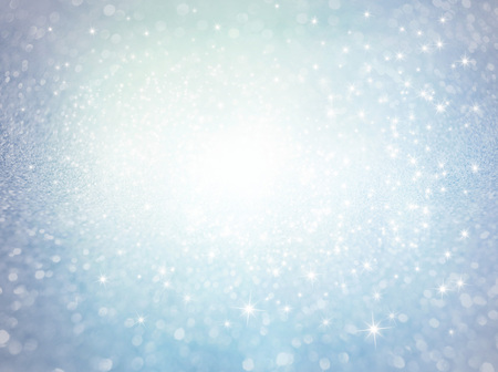 Defocused glittering ice texture background with shining stars exploding - Festive material