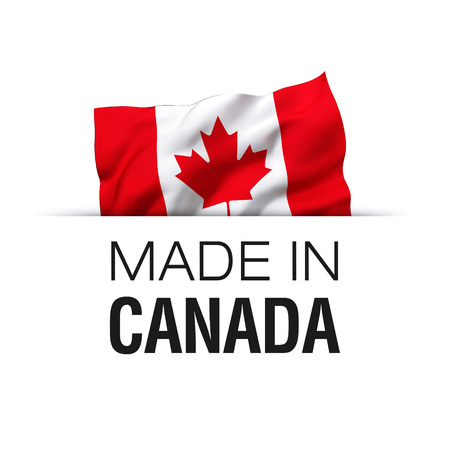 Made in Canada - Guarantee label with a waving Canadian flag.