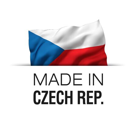 Made in Czech Republic - Guarantee label with a waving Czech flag.