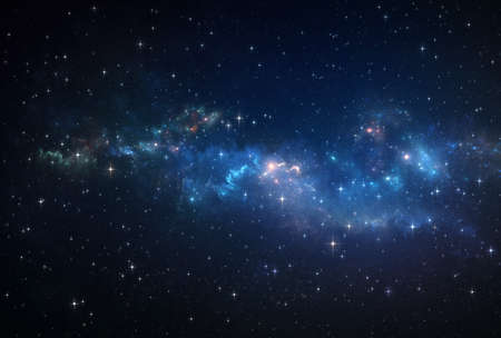 Galaxy, nebula and stars constellations in Universe. Deep space background. 免版税图像