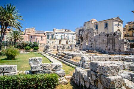 Ruins of Temple of Apollo in Sicily