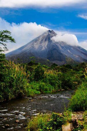 The active Arenal Volcano in Northwest Costa Rica.