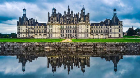 Chateau de Chambord built between 1519-1547, located in the Loire valley region of France.