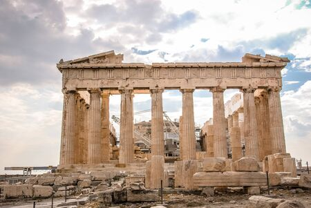 Parthenon in Athens, Greece on a Sunny Day