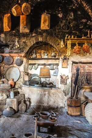 Recreation of a Kitchen during the Medieval period.