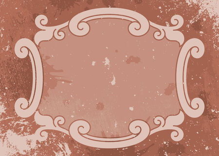 old fashioned: Grunge rust old fashioned vector illustration background label