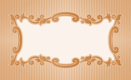 old fashioned: Vector illustration border old fashioned style