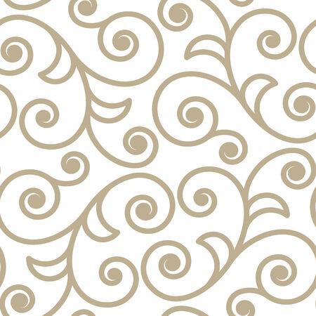 Scroll shape ornate seamlees pattern background
