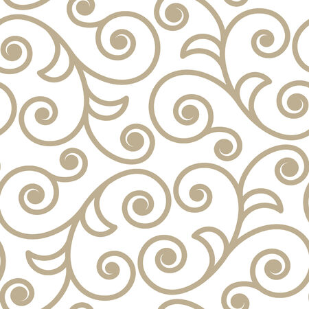 scroll shape: Scroll shape ornate seamlees pattern background