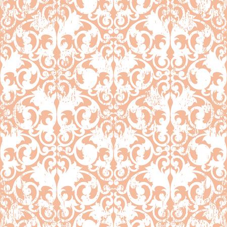 scroll shape: White abstract scroll shape like butterfly on litgh orange background