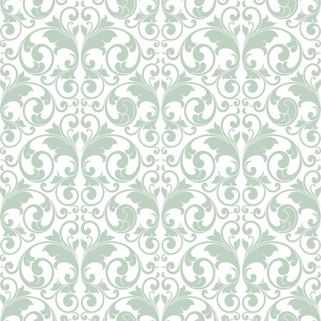 scroll shape: Light green abstract scroll shape like butterfly on white background Illustration