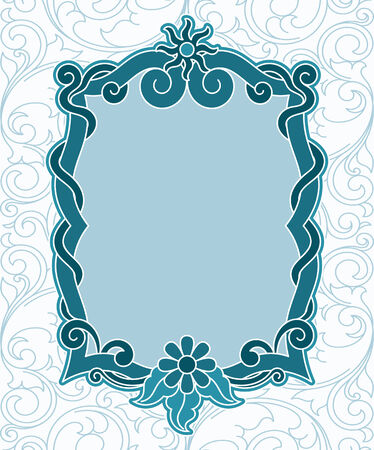 toned: Retro revibal vintage label blue toned color vector illustration