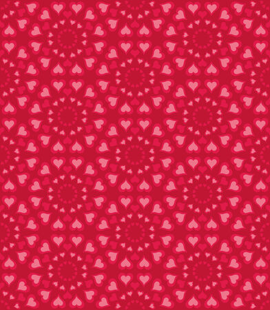 eros: Seamless pattern with heart shapes and scroll lines vector illustration Illustration