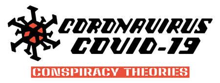 Coronavirus hand lettering. Covid-19 hand drawn. Vector print illustration. Vector illustration