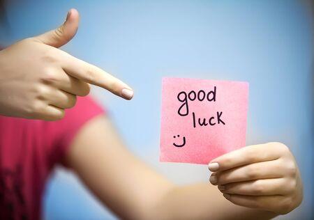 good luck: paper memo