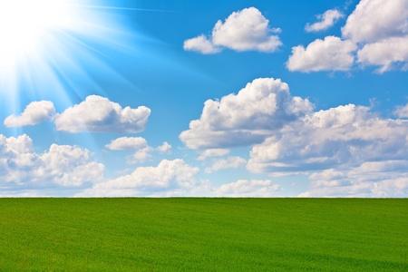 cielo perfecto y el sol