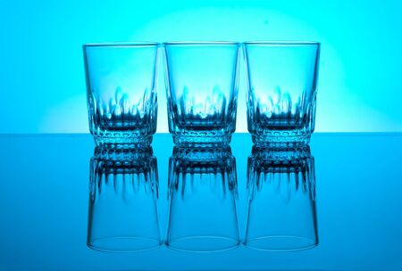 glases: glases isolated on blue background