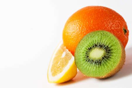 citrus fruit isolated on white photo